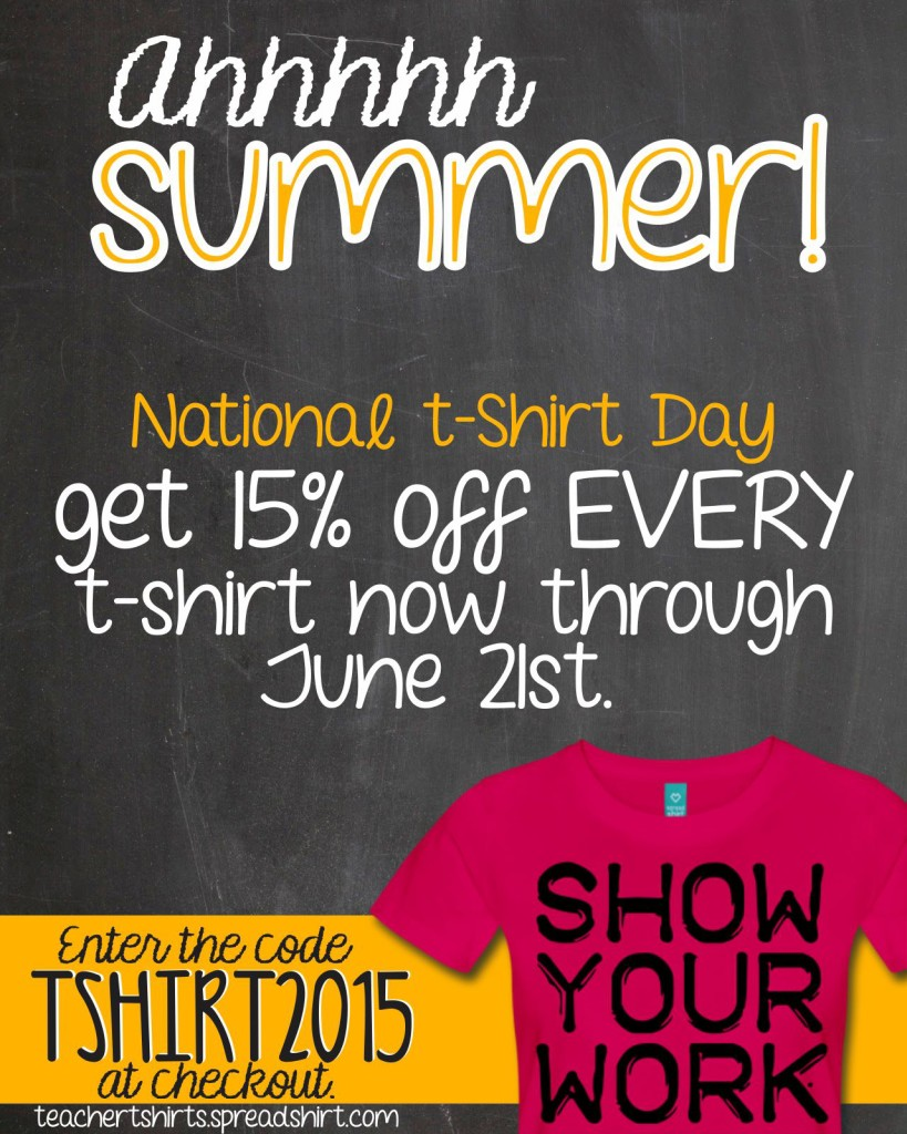 Save 15% On Teacher Tees for National T-shirt Day