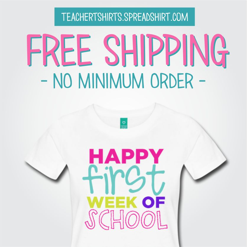 free shipping teacher tshirts back to school