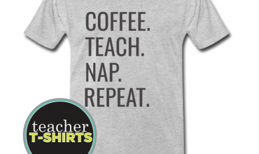 coffee teach nap repeat teacher shirt