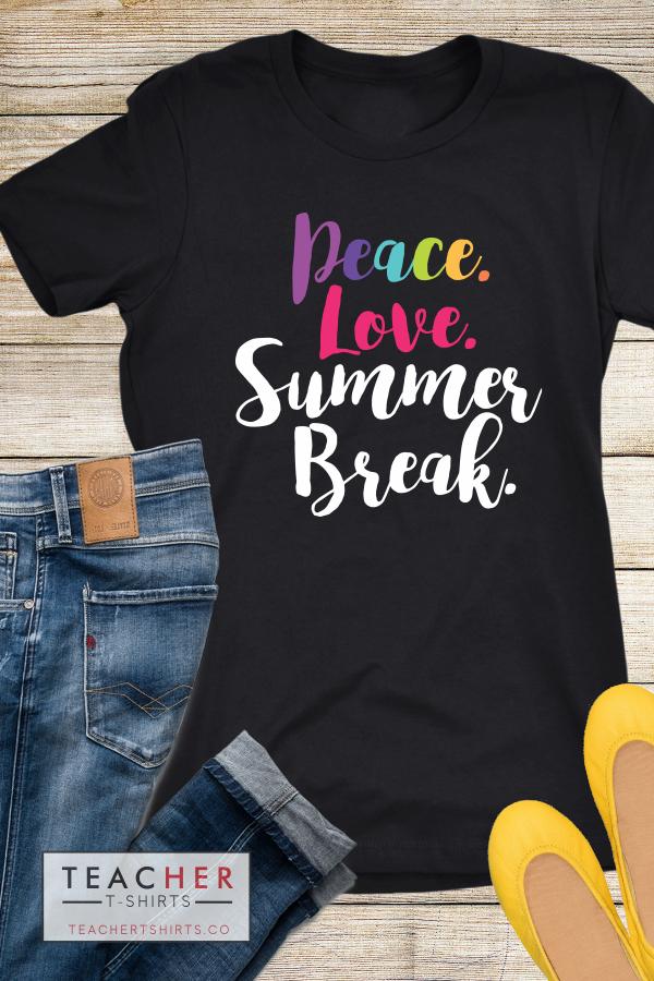 Peace Love Summer Break Chalk