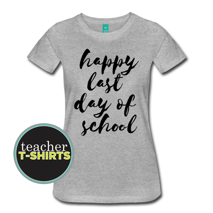 Women's Watercolor Happy Last Week of School Teacher Shirt