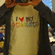 Rainbow Love My Students Teacher Shirt Shout Out