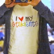 "Rainbow ""Love My Students"" Teacher Shirt Shout-Out"