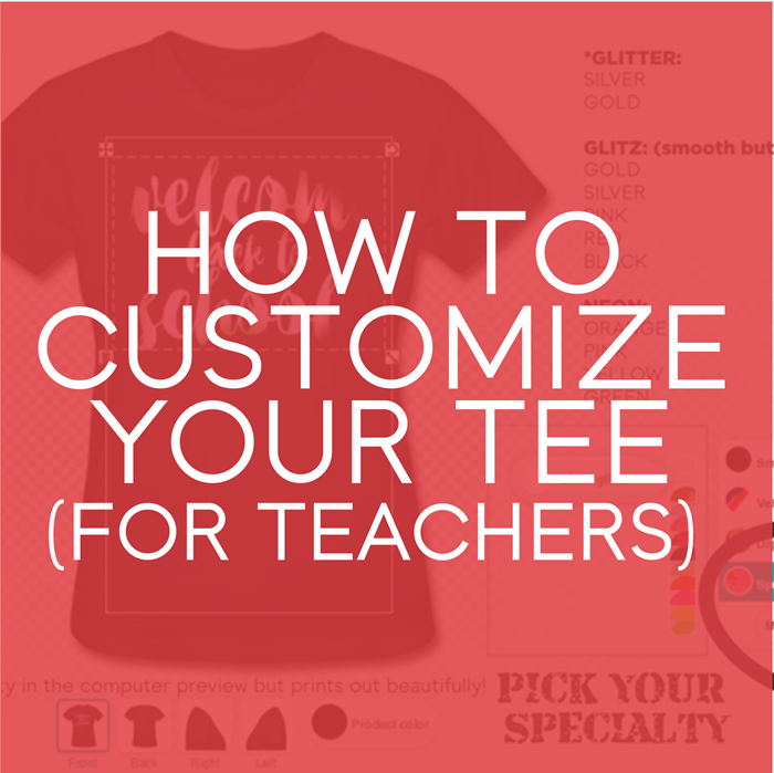 How To Customize Your Tee