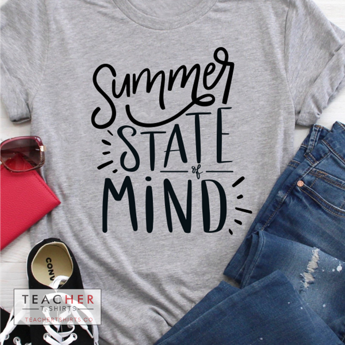 Summer State of Mind Teacher T-Shirt