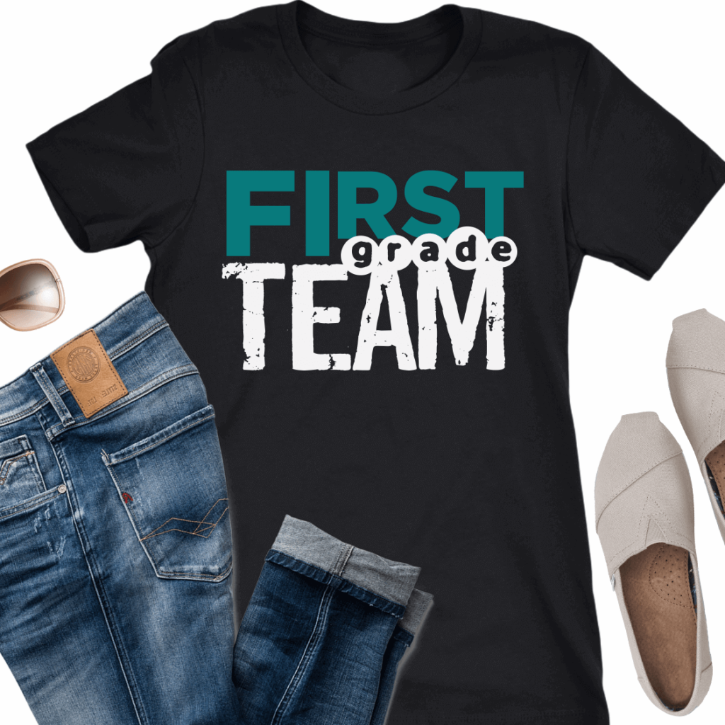 first grade team teacher grade level team t-shirts