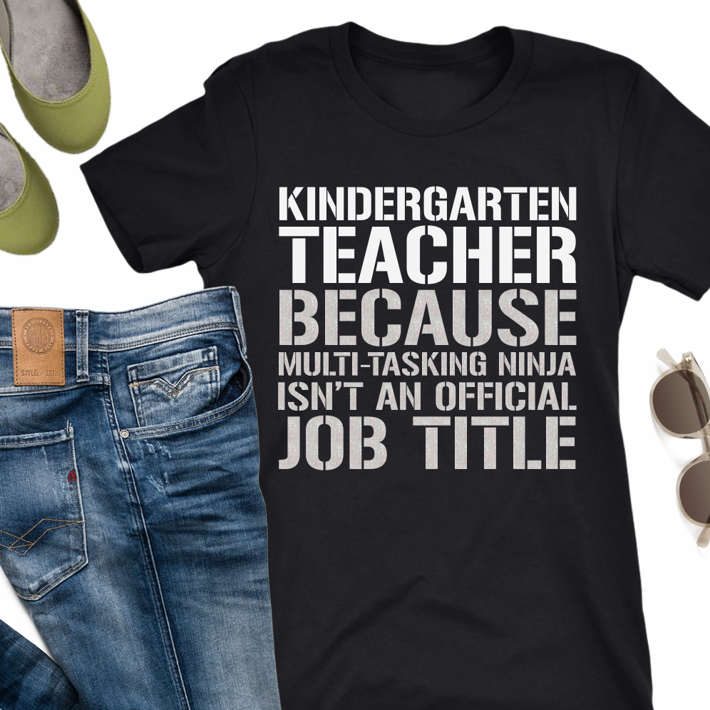Kindergarten Teacher Ninja Funny Teacher T-Shirts