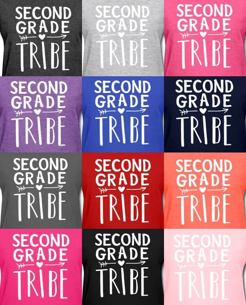 second grade tribe teacher t-shirts