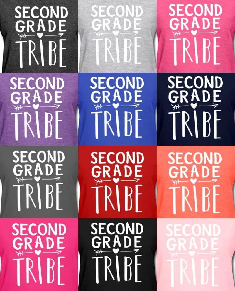 second grade tribe teacher t-shirts