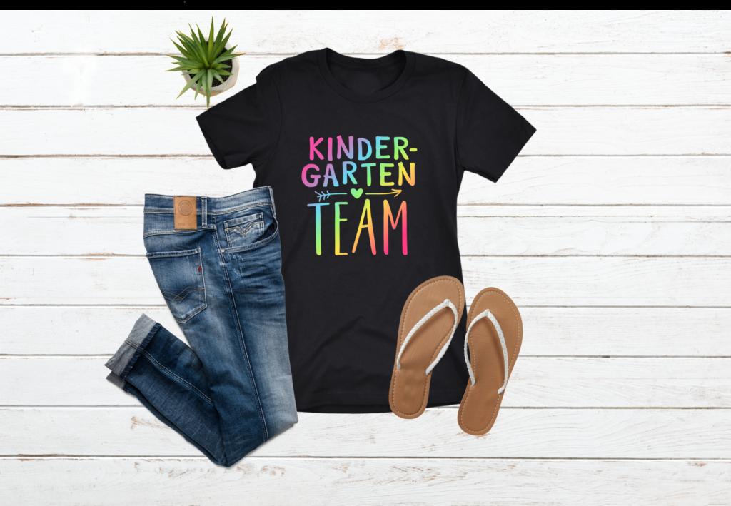 Kindergarten Team Neon Rainbow