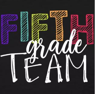 colorful grade level team shirts fifth grade