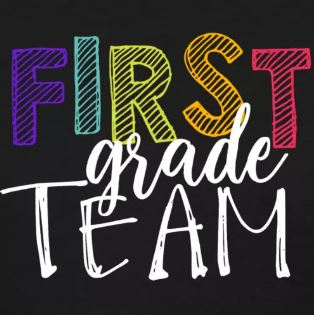 colorful grade level team shirts first grade