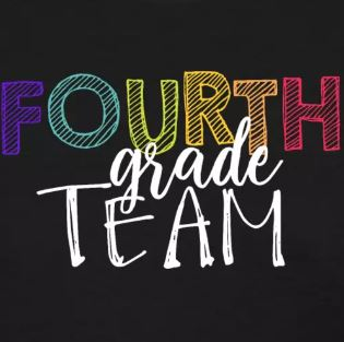 colorful grade level team shirts fourth grade