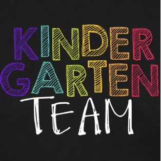 colorful grade level team shirts kindergarten