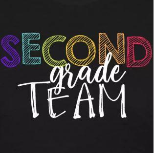 colorful grade level team shirts second grade