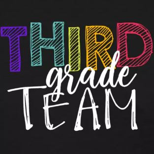colorful grade level team shirts third grade