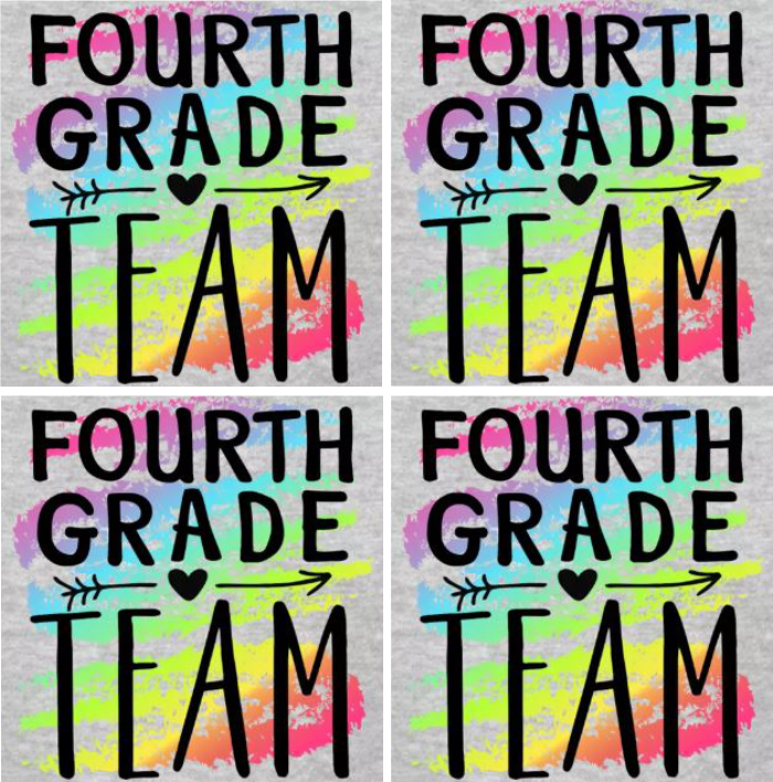 grade level teacher t-shirts for fourth grade