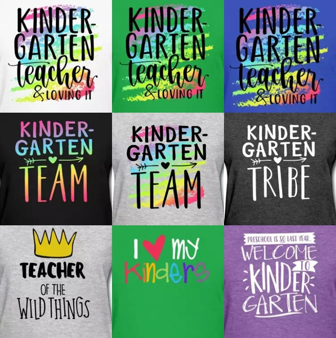 kindergarten teacher t-shirts